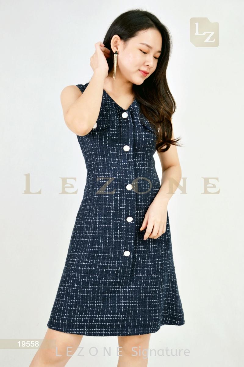 19558 LINEN SLEEVELESS DRESS¡¾2ND 50%¡¿