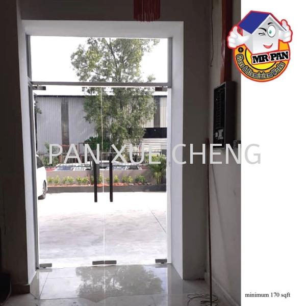 Double Swing Door Double Frameless Swing Door Selangor, Malaysia, Kuala Lumpur (KL), Rawang Supplier, Installation, Supply, Supplies   Pan Xue Cheng Glass Sdn Bhd