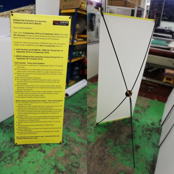 X Stand Ready Made Display Stand Custom And Ready Made Display Stand Selangor, Malaysia, Kuala Lumpur (KL), Puchong Supplier, Suppliers, Supply, Supplies | ProDeco Print