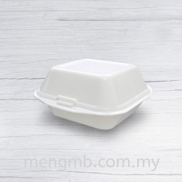 Form Burger Box Foam Boxes Clamshell Boxes Food Containers Johor Bahru (JB), Ulu Tiram, Malaysia Supplier, Distributor, Wholesaler, In Bulk | Meng MB Trading Sdn Bhd