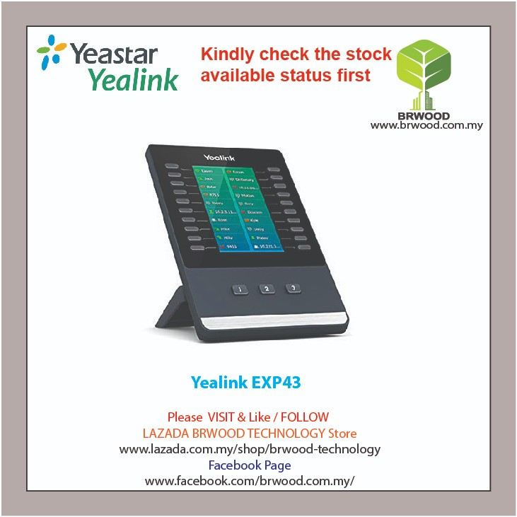 Yealink EXP43: Color Expansion Module forT43U/T46U/T48U IP phone