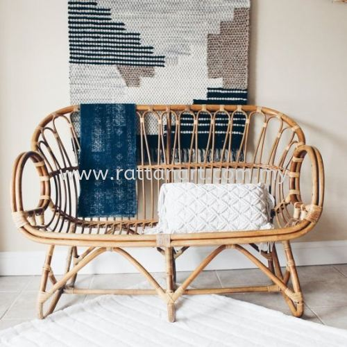 RATTAN COUCH VALORA - 2 SEATER