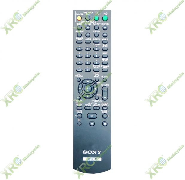 RM-ADU007 SONY HOME THEAETER REMOTE CONTROL HOME THEATER REMOTE CONTROL Johor Bahru JB Malaysia Manufacturer & Supplier   XET Sales & Services Sdn Bhd