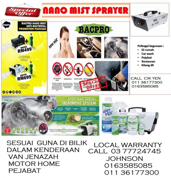 PORTABLE FOGGING ANTI BACTERIAL TREATMENT SYSTEM FIRST AID KIT  Kuala Lumpur (KL), Malaysia, Selangor Supplier, Suppliers, Supply, Supplies | Mobile Life Automobil Sdn Bhd