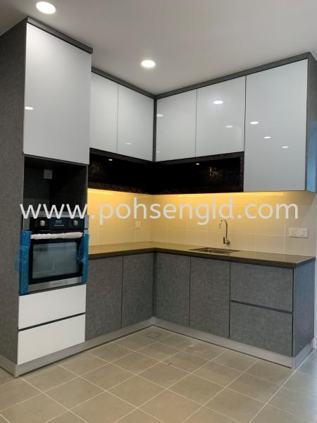 Solid Plywood MIX 4G Kitchen Cabinet #RIMBUN HARMONI Kitchen Seremban, Negeri Sembilan (NS), Malaysia Renovation, Service, Interior Design, Supplier, Supply | Poh Seng Furniture & Interior Design