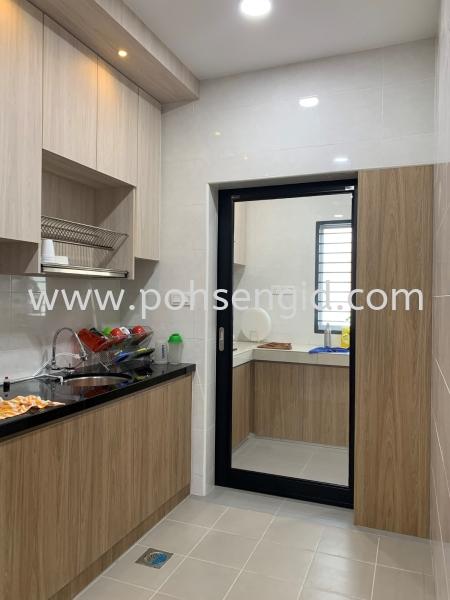 Solidply Kitchen Cabinet @ Rimbun Vista Kitchen Seremban, Negeri Sembilan (NS), Malaysia Renovation, Service, Interior Design, Supplier, Supply | Poh Seng Furniture & Interior Design
