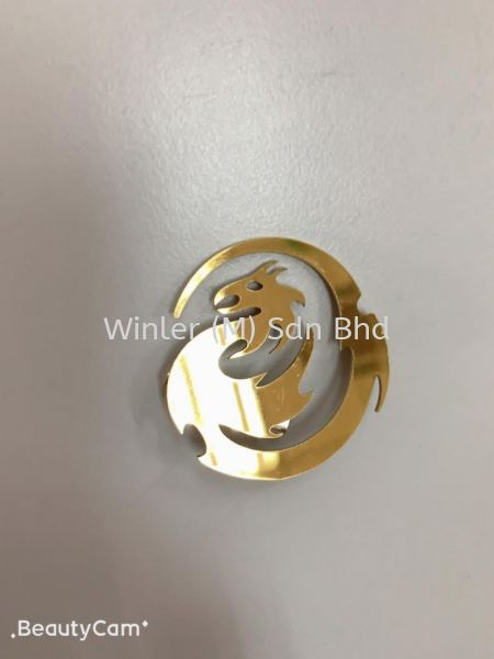 PVD Titanium Coating Gold Name Tag Logo Laser-Cutting Products Johor Bahru (JB), Malaysia, Masai Supplier, Suppliers, Supply, Supplies | Winler (M) Sdn Bhd