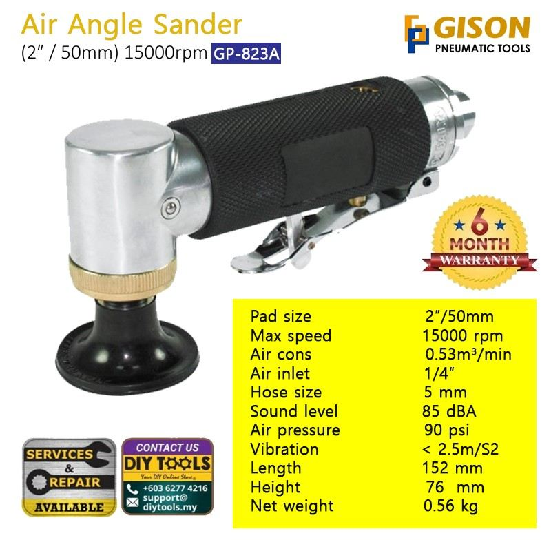 GISON 2¡å Air Angle Sander GP-823A 50mm 15000rpm