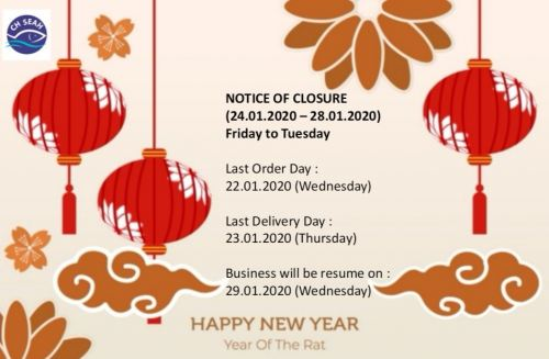 Notice of Closure - CNY 2020