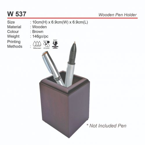 W 537 Wooden Pen Holder