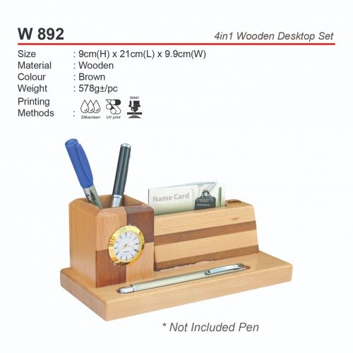 W 892 4in1 Wooden Desktop Set
