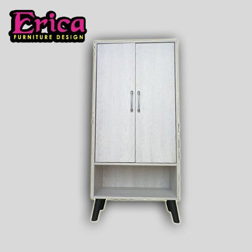 ERICA Shoes Cabinet / 3D plywood (MDF) / White colour / Latest Design / Melamine Wood / Nice Colour  Shoes Cabinet Johor Bahru (JB), Permas Jaya Supplier, Suppliers, Supply, Supplies   Erica Furniture Design Sdn Bhd