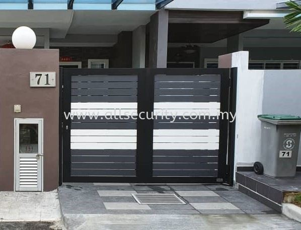 SINGLE LEAF TRACKLESS FOLDING GATE Aluminium Trackless Folding Gate Aluminium Gate - i-SmartGate Singapore, Malaysia, Johor, Selangor, Senai Manufacturer, Supplier, Supply, Supplies | AST Automation Pte Ltd