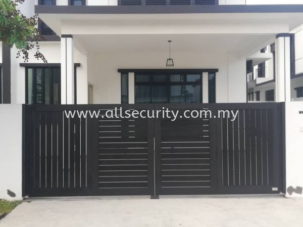 TRACKLESS FOLDING GATE Aluminium Trackless Folding Gate Aluminium Gate - i-SmartGate Singapore, Malaysia, Johor, Selangor, Senai Manufacturer, Supplier, Supply, Supplies | AST Automation Pte Ltd