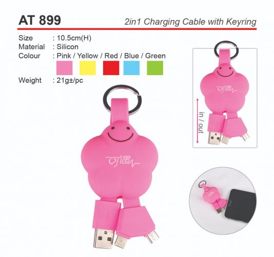 AT 899 2in1 Charging Cable with Keyring