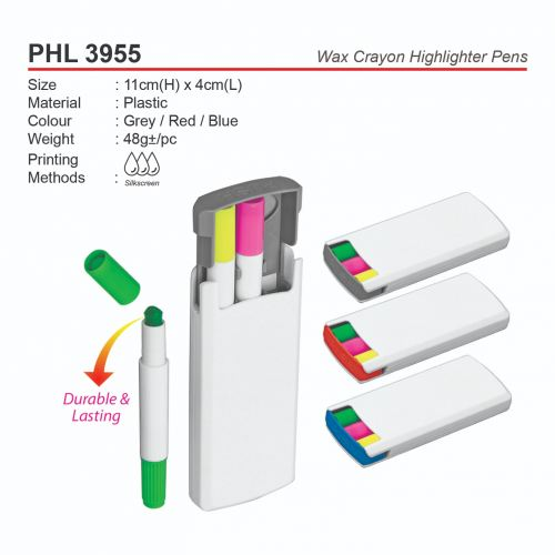 PHL 3955 Wax Crayon Highlighter Pens