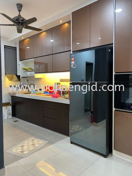 5G Door & MELAMINE Kitchen Cabinet #RIMBUN VISTA Kitchen Seremban, Negeri Sembilan (NS), Malaysia Renovation, Service, Interior Design, Supplier, Supply | Poh Seng Furniture & Interior Design