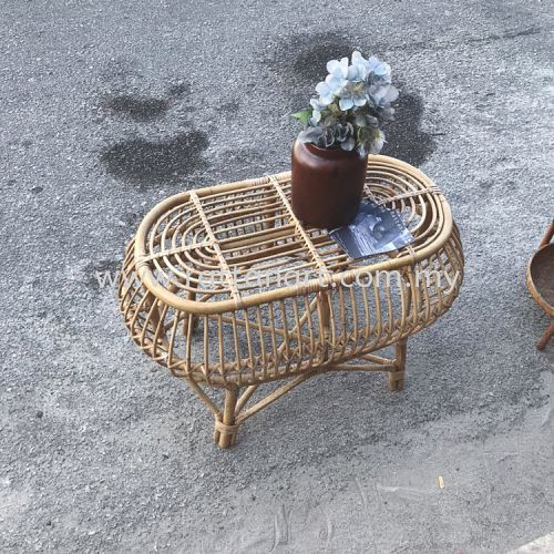 RATTAN COFFEE TABLE PEAR