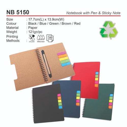 NB 5150 Notebook with Pen & Sticky Note