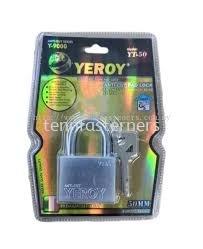 50MM YEROY Y9000 ANTI-CUT SHACKLE PADLOCK