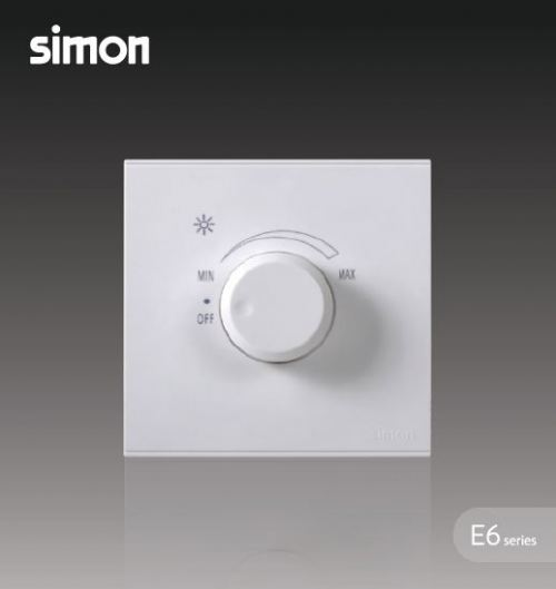 SIMON SWITCH 72E101 500W ROTARY DIMMER (INCANDESCENT BULB) WHITE