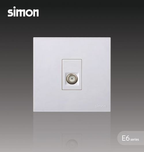 SIMON SWITCH 725114 1GANG BROADBAND F-CONNECTOR (ASTRO)OUTLET