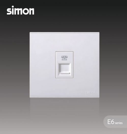 SIMON SWITCH 725214 1GANG TELEPHONE OUTLET9RJ11)