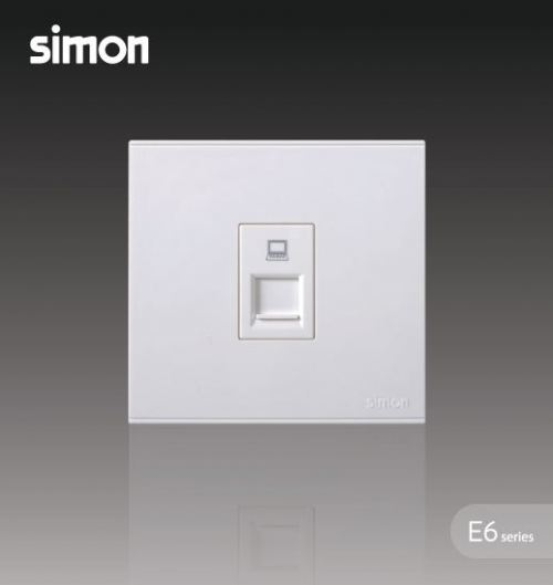SIMON SWITCH 725218 1GANG DATA OUTLET CAT 5E (RJ45)