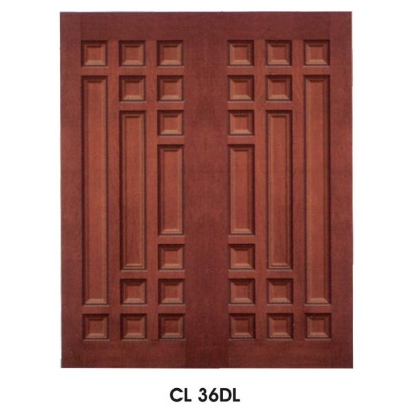 CL 36DL Solid Wooden Doors Malaysia, Perak, Bidor Manufacturer, Supplier, Supply, Supplies   Chow Lam Timber Door Sdn Bhd