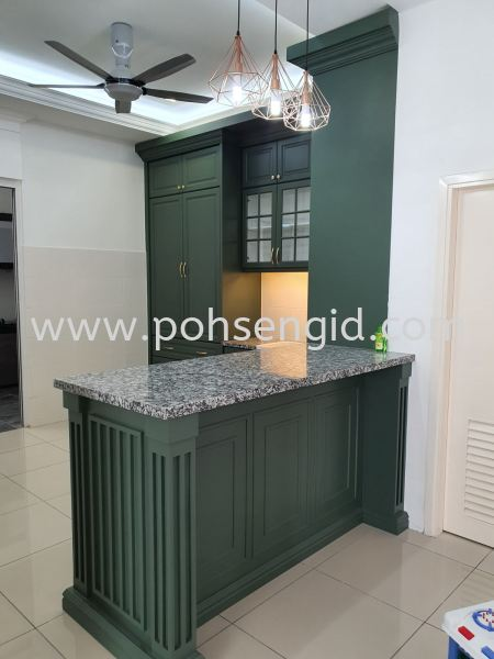 Nyatoh Spray Paint Kitchen Cabinet #SIGC Kitchen Seremban, Negeri Sembilan (NS), Malaysia Renovation, Service, Interior Design, Supplier, Supply | Poh Seng Furniture & Interior Design