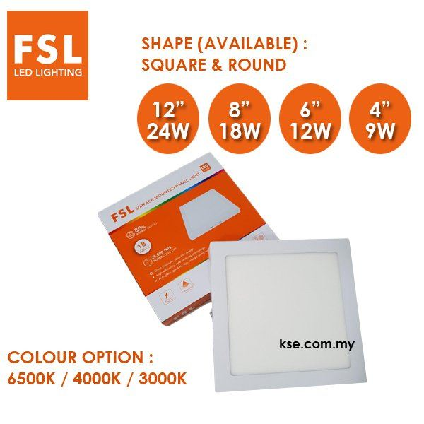 FSL LED SURFACE KITCHEN LIGHT FSL Penang, Malaysia, Butterworth Supplier, Suppliers, Supply, Supplies   KSE Electrical Sdn Bhd