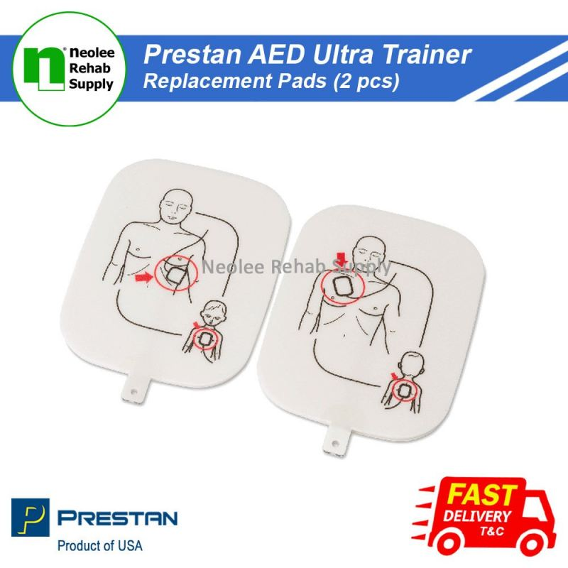 PP-UTPAD-1 Prestan AED Ultra Trainer Replacement Pads (2pcs)