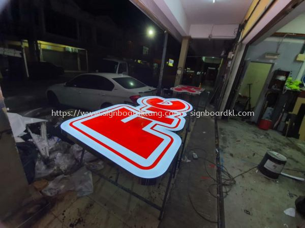 FNC 中国风 3d led channel box up lettering signage at kuchai lama OUG Kuala Lumpur  3D LED Signage Selangor, Malaysia Supply, Manufacturers, Printing | Great Sign Advertising (M) Sdn Bhd