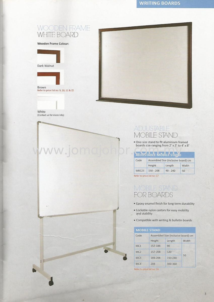Mobile Stand Writing Board Write Best Writing Boards Johor Bahru (JB), Johor Supplier, Suppliers, Supply, Supplies | Joma (Johor) Sdn Bhd