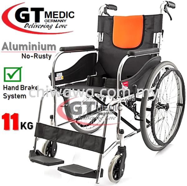 ¡¾RM350.00¡¿GT MEDIC GERMANY Ultra Lightweight Aluminium Wheelchair Foldable Travel Transport Wheel Chair / Kerusi Roda Ringan Medical Supplies Health & Beauty Selangor, Malaysia, Kuala Lumpur (KL), Sungai Buloh Supplier, Suppliers, Supply, Supplies   Chiwawa Asia Sdn Bhd