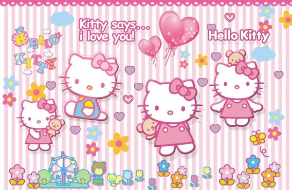 Hello Kitty Wall Mural Johor Bahru (JB), Malaysia Supplier, Suppliers, Supply, Supplies | Homlux Windows Covering Sdn Bhd