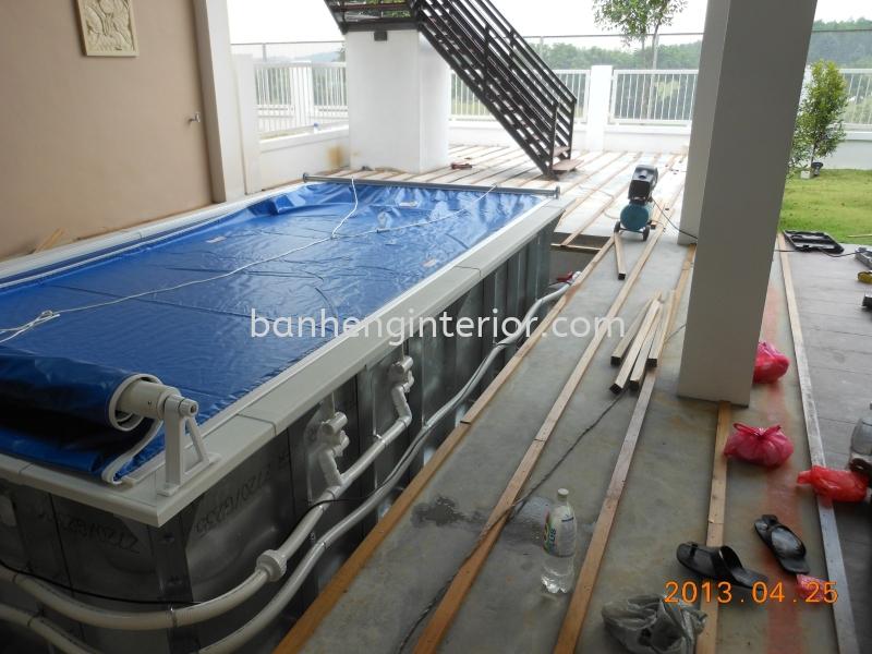 indoor pool indoor pool Work In Progress  Johor Bahru (JB), Johor, Skudai Service, Renovation, Construction | Ban Heng Interior Design Sdn Bhd