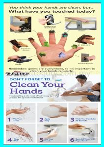 remember washing your hand , this is your responsible