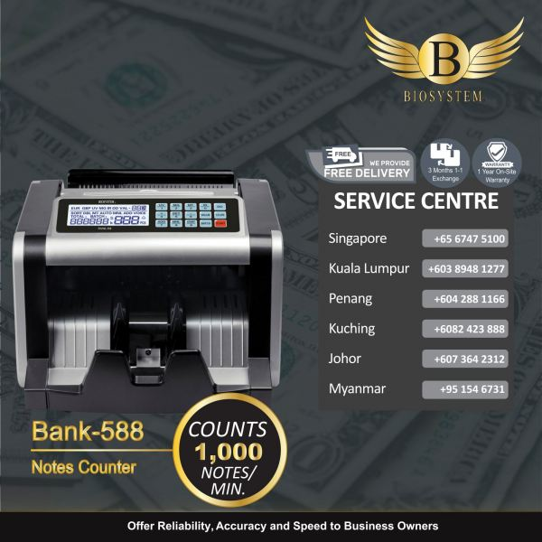 Bank-588 Value Counter Banking Equipment Singapore Supplier, Supply, Manufacturer | Biosystem Group Pte Ltd