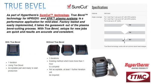 HYPERTHERM SURECUT- TRUE BEVEL