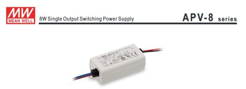 MEANWELL APV-8W SINGLE OUTPUT SWITCHING POWER SUPPLY