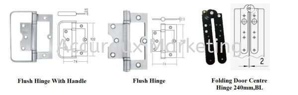 Additional Accessories For Folding Hinge Sliding Door System 02. ARCHITECTURAL SLIDE AND FOLD Selangor, Malaysia, Kuala Lumpur (KL), Sungai Buloh Supplier, Distributor, Supply, Supplies | Accuraux Marketing Sdn Bhd