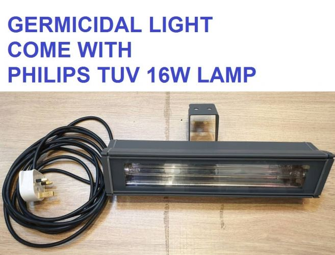 4901 TUV GERMICIDAL FITTING DIECAST ALUMINIUM COME WITH PHILIPS TUV LAMP 16W WALL TYPE GERMICIDAL DISINFECTION LAMP SET. [PLUG & PLAY]