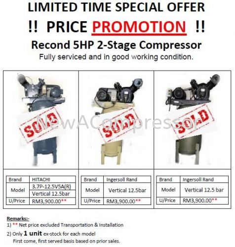 Recond 5HP 2-Stage Compressor (SOLD OUT)
