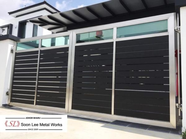 Stainless Steel Main Gate Stainless Steel Main Gate Johor Bahru (JB), Malaysia, Ulu Tiram Supplier, Suppliers, Supply, Supplies | Soon Lee Steel & Iron Works Sdn Bhd