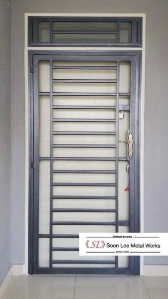 Powder Coated Metal Door Grill / Window Grill Powder Coated Metal Door Grill / Window Grill Johor Bahru (JB), Malaysia, Ulu Tiram Supplier, Suppliers, Supply, Supplies | Soon Lee Steel & Iron Works Sdn Bhd