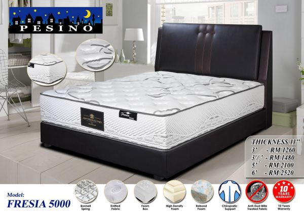 FRESIA 5000 Pesino Mattress Bedroom Furniture Malaysia, Seremban, Negeri Sembilan Manufacturer, Supplier, Supply, Supplies   Vazzo Marketing Sdn Bhd