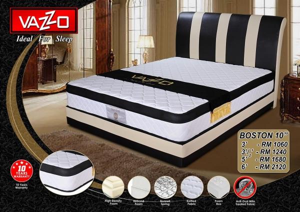 Boston 10'' Vazzo Mattress Bedroom Furniture Malaysia, Seremban, Negeri Sembilan Manufacturer, Supplier, Supply, Supplies | Vazzo Marketing Sdn Bhd