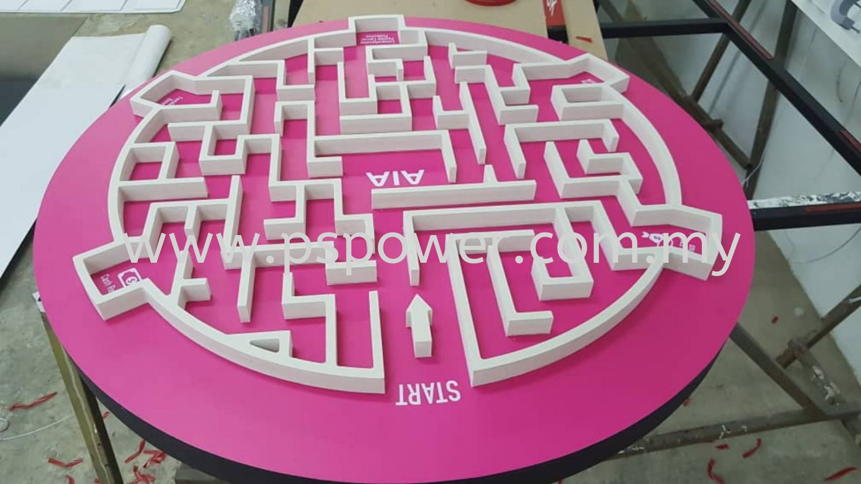 Laser Cut Acrylic - The Maze