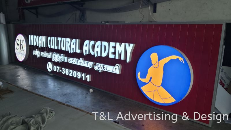 Indian Cultural Academy 3D LED box up front lit LED 3D Signage Johor Bahru (JB), Malaysia, Skudai Supplier, Supply, Design, Install | T & L Advertising & Design